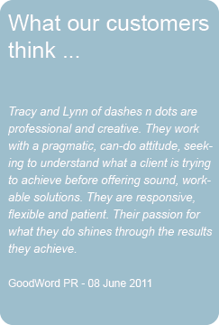 GoodWord PR Testimonial for new web site design