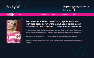 Becky Want TV Presenter